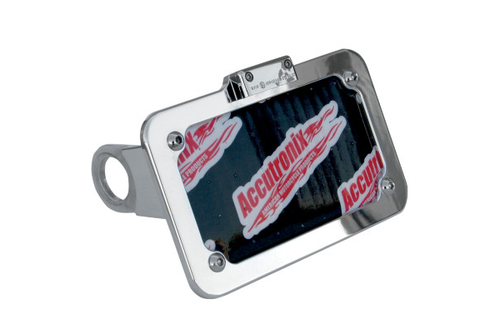 Accutronix Side Mount License Plate Assembly for '04-13 XL Models -Chrome