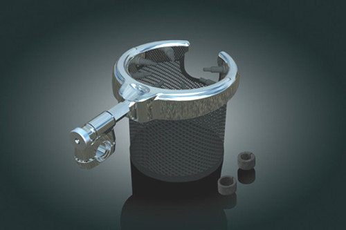 Kuryakyn Passenger Drink Holder w/ Basket for GL1800 '01-Up & F6B