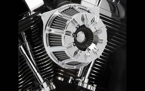 Arlen Ness  Inverted Series 10-Gauge Air Cleaner Kit for '08-16 Harley Davidson Touring & H-D Trikes -Chrome