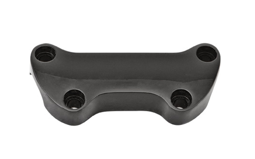 Hard Drive Handlebar Clamps  for '73-Up HD (except Springer Softail)  - Black, Plain Clamp w/out Skirt