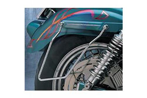 Drag Specialties Chrome Saddlebag Support Brackets for '82-94 FXR Models Replaces OEM #90587-85