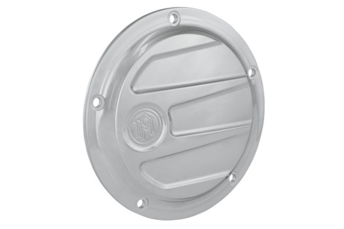 Performance Machine Scallop Derby Cover '99-17 Big Twin Models (Except '16-Up Dressers, '15 FLHCUL/FLHTKL) - Chrome