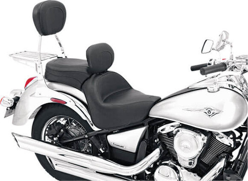Mustang  One-Piece Wide Touring Seat  with  Driver Backrest  for Vulcan 900 '06-up
