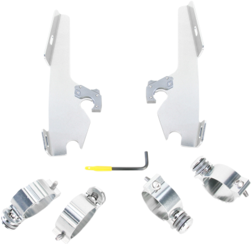 Memphis  Shades  Batwing Windshield/Fairing Mounting Kit for Fury 1300-Polished FAIRING AND WINDSHIELD NOT INCLUDED