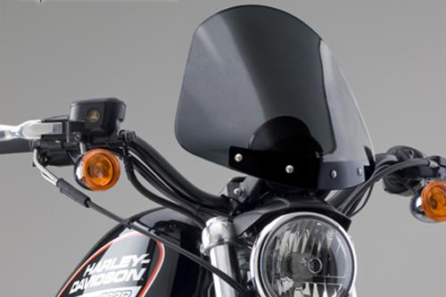 National Cycle Gladiator Windshield for FXD/FXDX '95-04 Dark Tint w/ Wrinkle Black Hardware