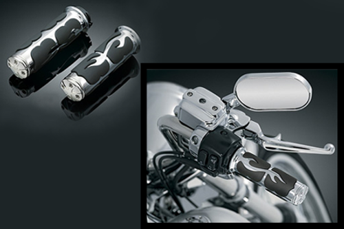 Kuryakyn  Iso-Flame Grips for Suzuki M109R '06-up