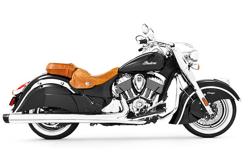 Freedom Performance Liberty 4 inch Slip-On Exhaust for '14-Up Indian Challenger, Chieftain, Roadmaster & Springfield - Chrome w/Black Tip