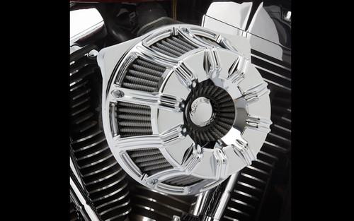 Arlen Ness  Inverted Series 10-Gauge Air Cleaner Kit for '99-06 Twin Cam CV Carb, '01-17 Twin Cam Delphi EFI  (Excludes 08-17 FLH, FLT; 16-17 FLSTFS, FLSS ) -Chrome