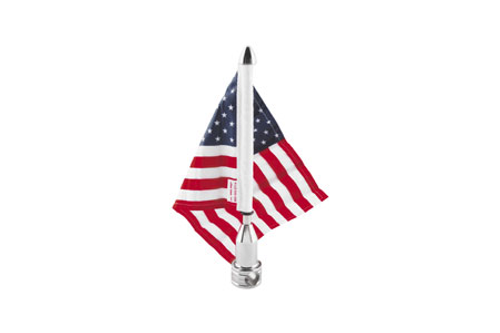"""PPI Pro Pad Fixed Flag Mount for H-D Models -7/8 Inch Round Bar w/ 10"""" x 15"""" Flag"""