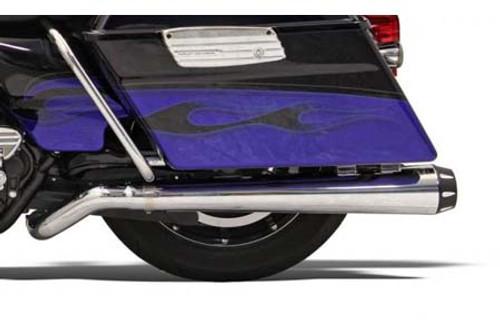 Bassani Pseudo Left-Side Megaphone Muffler for Road Rage System # 1800-1282 on '09-16 FL -Chrome