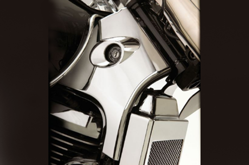 Show Chrome  Neck Covers/Trim for Volusia 800 '01-04  and C50 Models '05-up