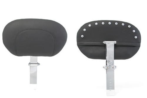 Mustang Seats Driver Backrest (Post & Pad ONLY) -Chrome Studs (For use with One Piece Super Touring Seat  #79546)