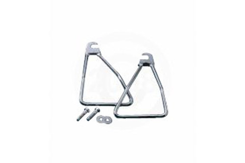 Drag Specialties Chrome Saddlebag Support Brackets for '58-86 FL Models