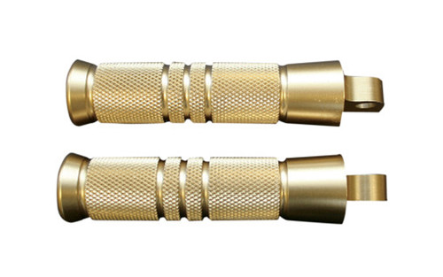Accutronix Brass Male-Mount Footpegs -Knurled/Grooved (pr)