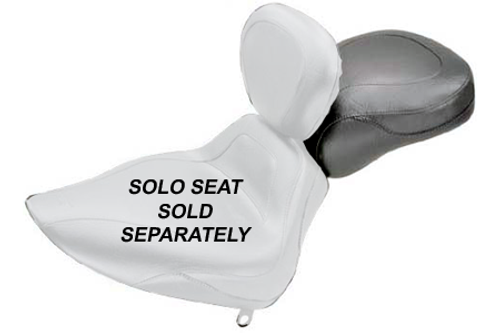 Mustang  Sport Recessed Rear Seat (for Driver Backrest Solos) on Springer Classic '06-07  & Heritage Classic '07-15  (with Standard Rear Tire) -Plain/Vintage