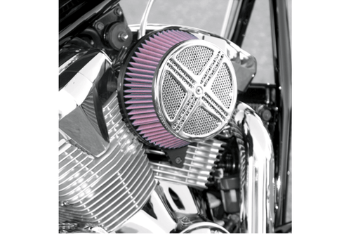 Baron Custom XXX Air Cleaner Assembly for V-Star 650 -Chrome