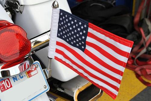 "PPI Pro Pad License Flag Mount w/ 10"" x 15"" Flag -13"" Pole"