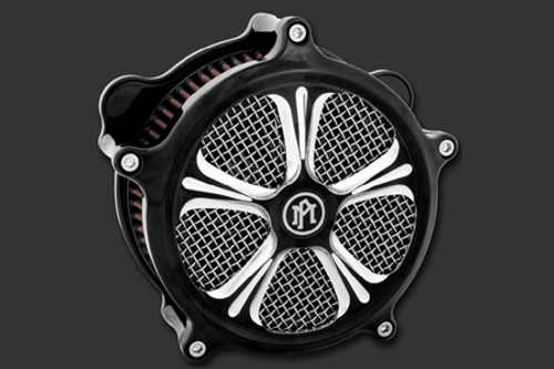 Performance Machine Wrath Faceplate for Super Gas Air Cleaners -Platinum Cut