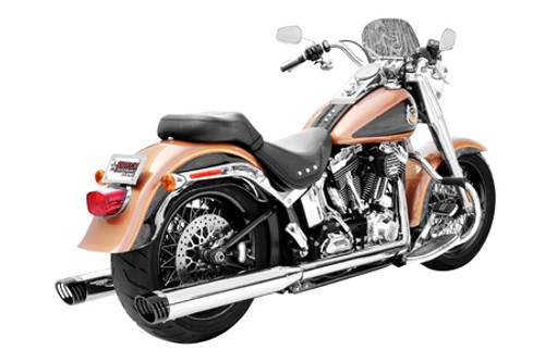 Freedom Performance Exhaust Racing Dual System for '97-06 Softails -Chrome