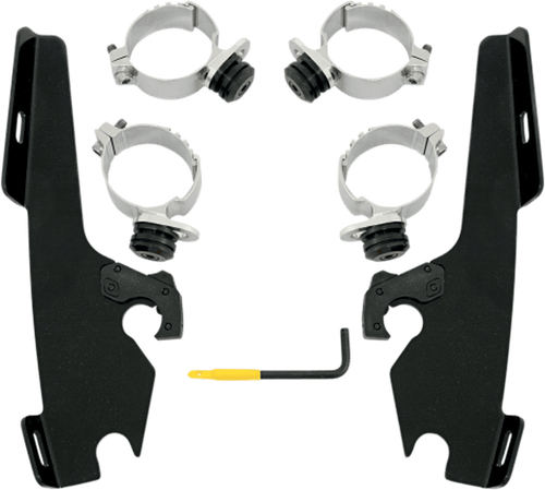 Memphis Shades Fats/Slim No-Tool Windshield Mounting Hardware for Fury  '10-13 -Black