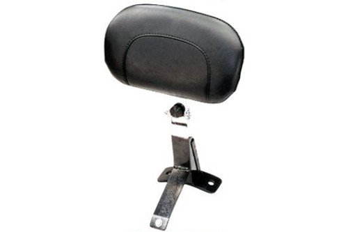 Mustang  Driver Backrest Kit  to fit One-Piece Ultra Touring Seats  for '97-08 FLHT/FLTR/FLHR-Smooth, Chrome Studs