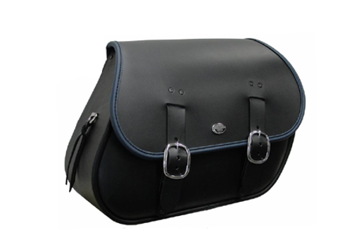 Boss Bags Close Fitting  #37 Model Plain (Shown with Blue Trim) for '14 Indian Models