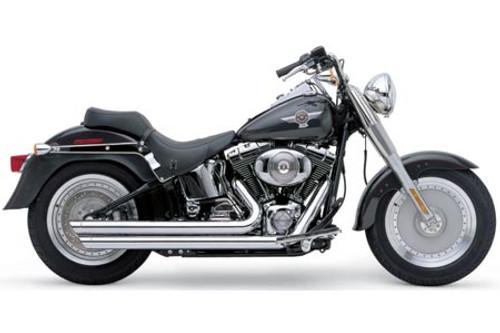 Cobra Speedster Slashdowns  Exhaust w/ PowerPort for FXST/FLST '12-17 - Chrome