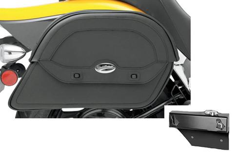 Saddlebag Package for Honda VTX1300C & VTX1800C/F Models '01-'06 Saddlemen Cruis'n Slant Saddlebags and Easy Brackets