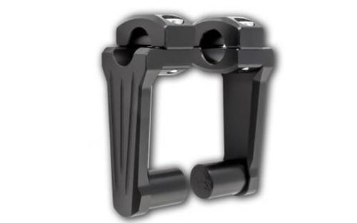 "Rox Speed FX Pivoting Risers for 1"" Diameter Handlebars -4"" Rise, Black"