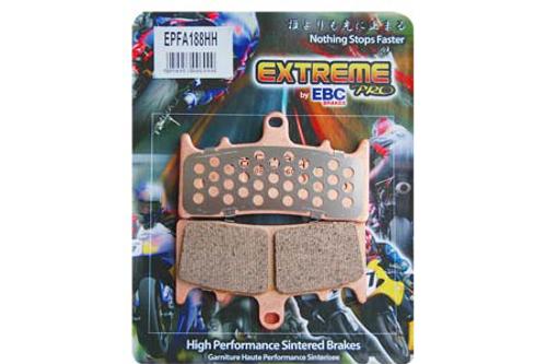 EBC Brake Pads REAR Extreme Performance Sintered Metal Pads for '08-12 FXSTB/FXSTC/FLSTC FLSTF/FLSTN/FXCWC/C, FXS-Pair OEM# 42298-08