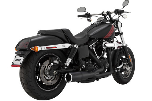 Vance & Hines Pro Pipe Short 2-into-1 Exhaust for Harley Davidson Dyna Models '12-17   NOT FOR DYNA SWITCHBACK Black