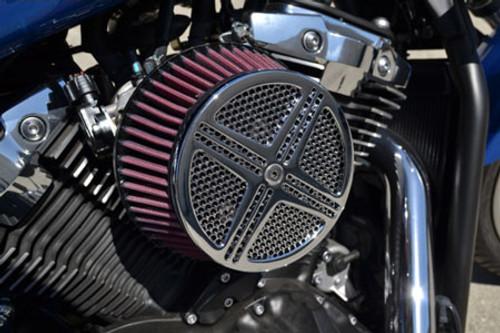 Baron Custom XXX Air Cleaner Assembly for V-Star 950/Tourer  '09-13 V-Star 1300/Tourer '07-13 & Stryker Chrome