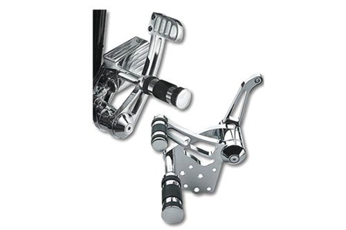 "Chrome Billet Forward Control Kit for all 4-Speed FL, FX & FXWG '58-86 & 5-Speed Softails '86-99 -5/8"" Bore Master Cylinder"