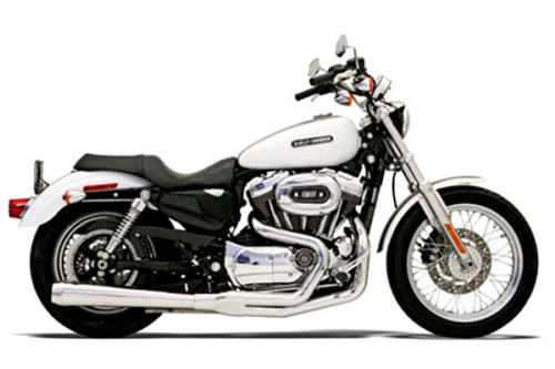 Bassani Road Rage 2-Into-1 System for XL '07-13 Chrome, Long w/ Heat Shield