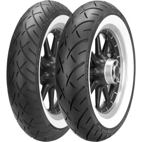 Metzeler Tires ME888 Marathon ULTRA Mileage-No Compromise  Whitewall Rear Tire -180/65B16WWW-TL  (81H) -Each