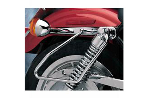 Drag Specialties Chrome Saddlebag Support Brackets for '94-03 XL Models (ex. 1200's) Replaces OEM #90799-94B
