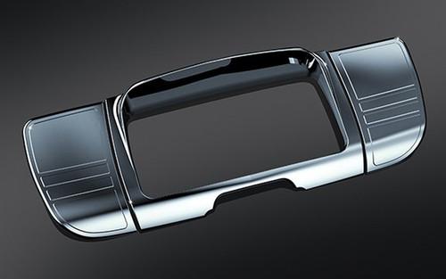 Kuryakyn Tri Line Deluxe Stereo Trim for '14-Up  Electra Glides, Street Glides, Trikes -Chrome  (ea)