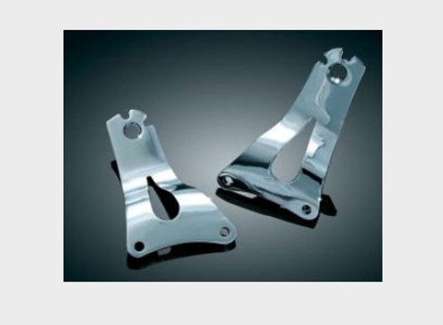 *CLEARANCE* Kuryakyn Fixed Low Mounting Plates for '09-12 FL Touring Models Multi-Purpose Driver/Passenger Backrest Sold Separately