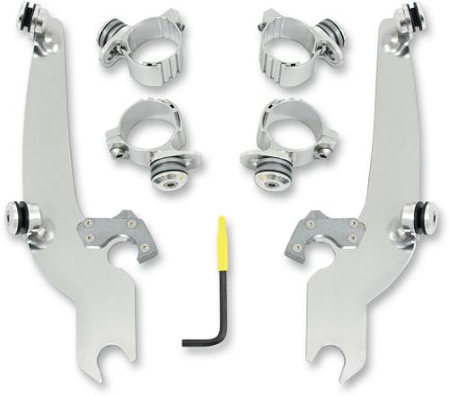 Memphis Shades El Paso Sportshield No-Tool Windshield Mounting Hardware for Yamaha Bolt - Polished