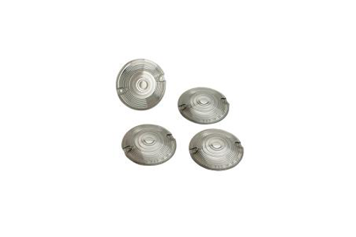 Drag Specialties Replacement Smoked Turn Signal Lens Kit for '86-18 FLT/FLHR (except FLHRS)/ FLST/FLSTC/FXRD/FXRT Repl. OEM #69308-02 (w/ flat-style signal housing)