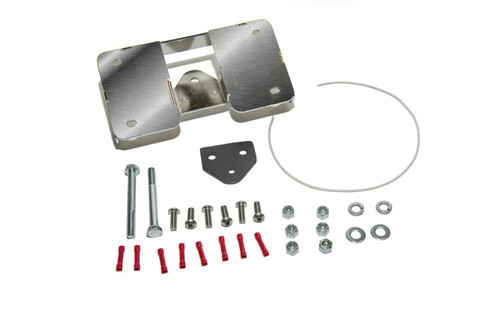Easy Brackets Turn Signal Relocation Kit & Lay Down License Plate Mount for Certain Dyna Models '01-Earlier