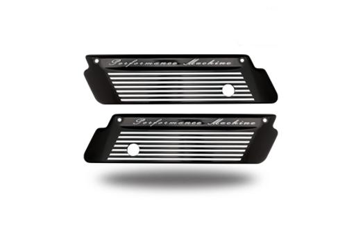 Performance Machine Saddlebag Latch Covers for '93-13 FLT/FLHT/FLHX/FLHR/FLTR -Fluted Contrast Cut