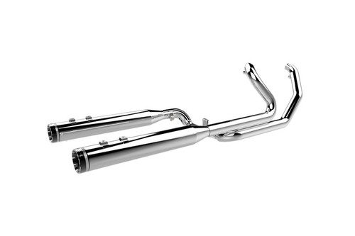 Khrome Werks Exhaust 2-into-2 Systems w/ Two-Step Crossover for '09-16 FLHT, FLHR, FLHX, FLTRX - Chrome