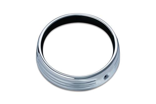 Kuryakyn 7 inch Chrome Headlight Trim Ring for '14-16 Harley Davidson Touring & Tri-Glides
