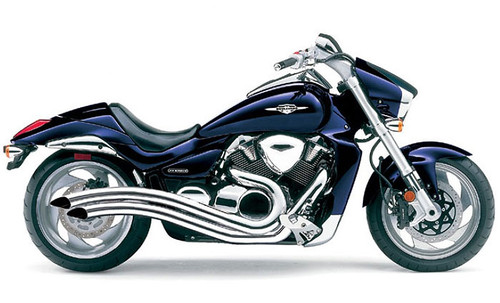 Cobra Swept Exhaust for Suzuki M109R Boulevard '06-Up Chrome