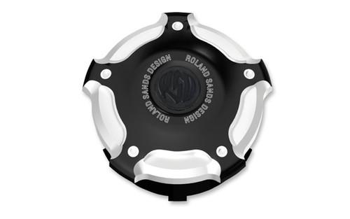Roland Sands Billet Aluminum Gas Cap for L96-Up H-D Models -Misano, Contrast Cut