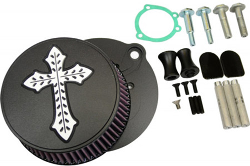 L.A. Choppers Spanish Cross Air Cleaner for '91-Up XL -Black