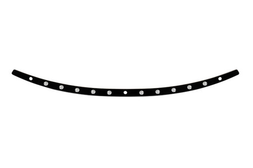 Memphis Shades Stainless Steel Windshield Trim for '14-Up FLHT, FLHX, FLHTCUTG Models  Dished, Black