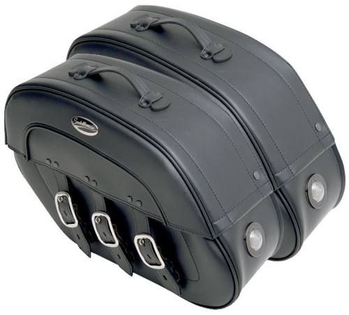 Saddlemen Express S-4 Rigid-Mount Specific-Fit Saddlebags for M50 '05-08, C50 '05-17 & Volusia 800 '01-04 -Drifter w/ LED Auxiliary Lights
