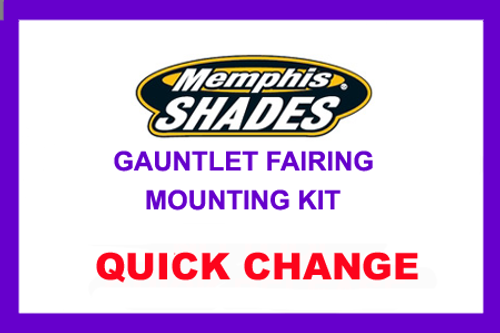 Memphis Shades Gauntlet Mounting Kit for '95-10 XL 883C/1200C - Polished GAUNTLET FAIRING SOLD SEPARATELY